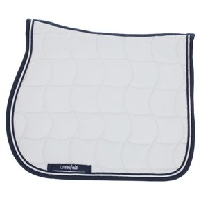 Saddle pad – white/navy-white/navy