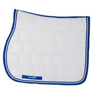 Greenfield Selection Zadeldoek - wit/koningsblauw-wit/koningsblauw
