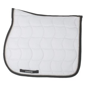 Saddle pad – white/grey-white/silvergrey