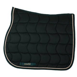 Greenfield Selection Saddle pad – green/green-beige