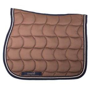 Saddle pad – caramel/navy-beige/navy