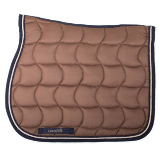 Greenfield Selection Saddle pad – caramel/navy-beige/navy