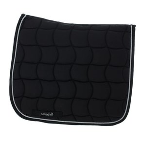 Saddle pad dressage - black/black-silver