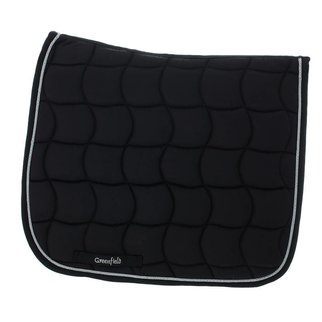 Greenfield Selection Tapis de selle dressage - noir/noir-argent