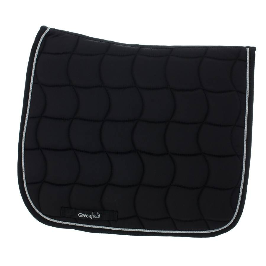 Greenfield Selection Zadeldoek dressuur - zwart/zwart-zilver