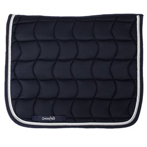 Saddle pad dressage - black/black-white/silvergrey