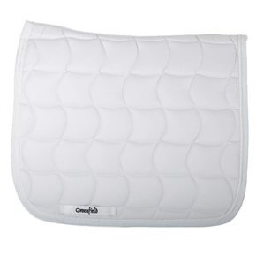 Saddle pad dressage - white/white-white