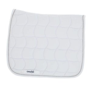 Saddle pad dressage - white/white-silver