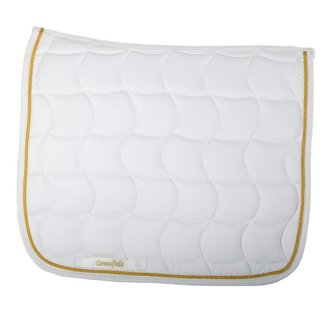 Greenfield Selection Saddle pad dressage - white/white-gold