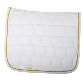 Greenfield Selection Zadeldoek dressuur - wit/wit-goud