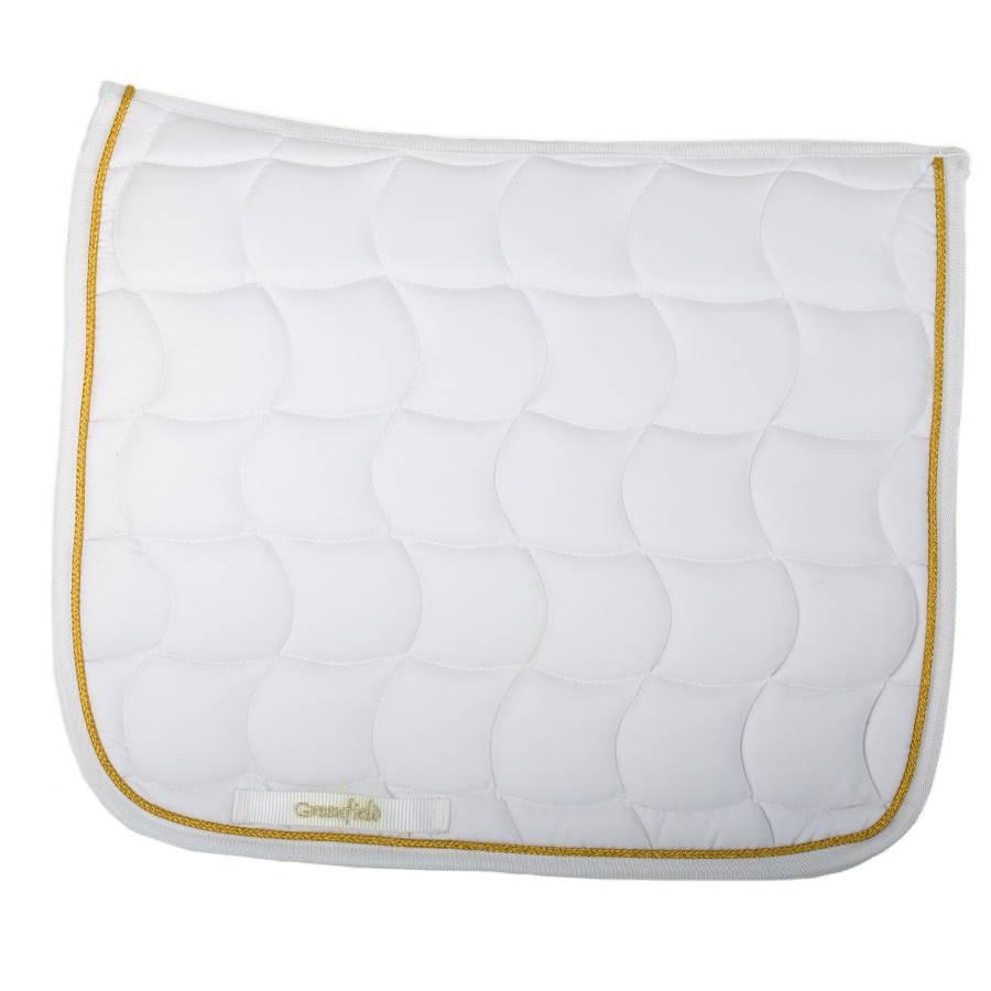 Greenfield Selection SPD/1 - Tapis de selle dressage - blanc/blanc-or