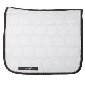 Saddle pad dressage - white/grey-white/silvergrey