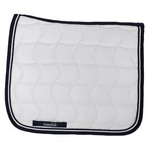 Saddle pad dressage - white/navy-white/navy