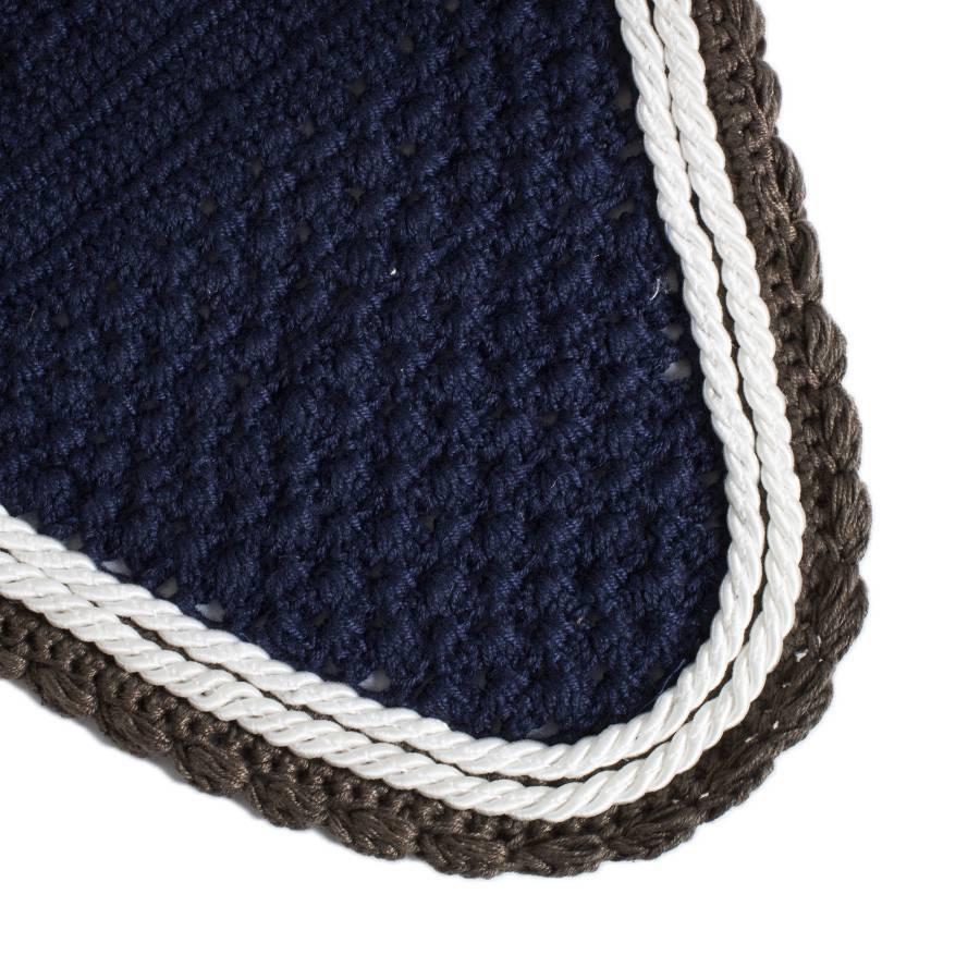 Greenfield Selection Bonnet - bleu marine/gris-blanc/blanc