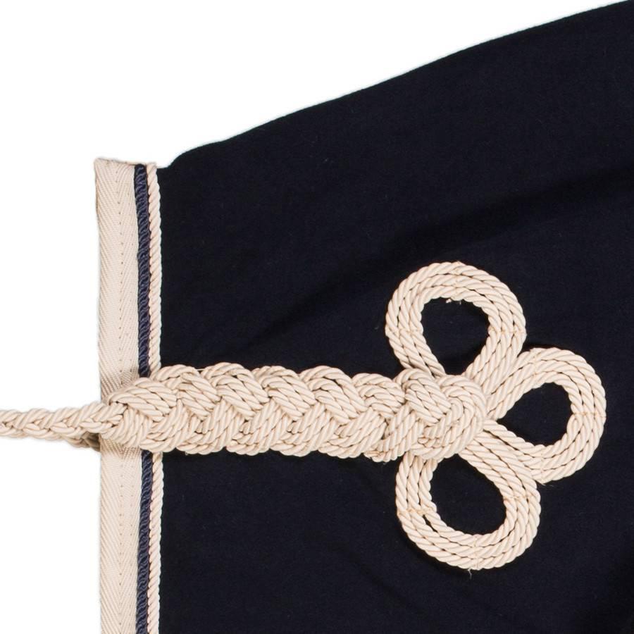 Greenfield Selection Fleece rug - navy/beige-navy/beige