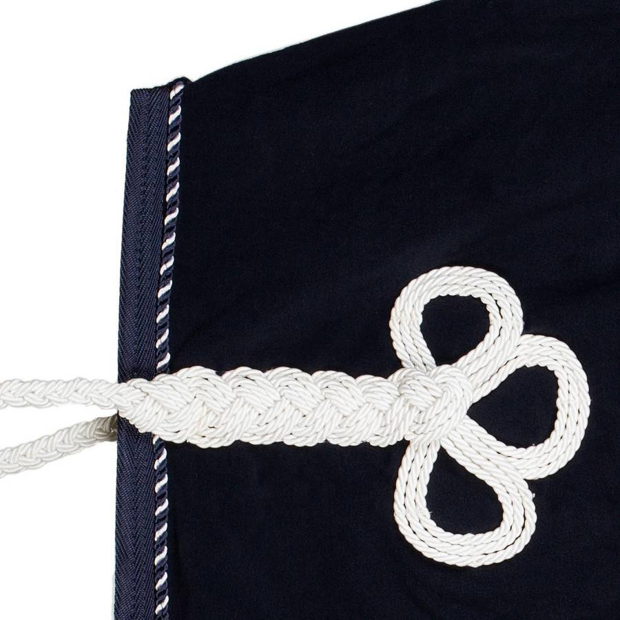Greenfield Selection Fleece rug - navy/navy-mix (white)