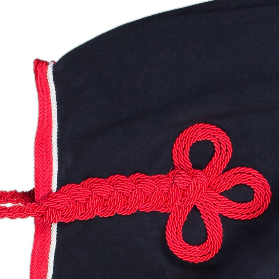Greenfield Selection Fleece rug - navy/red-white