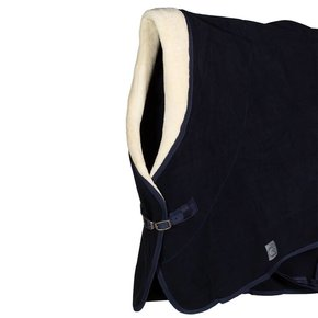 Couverture polaire col teddy – marine