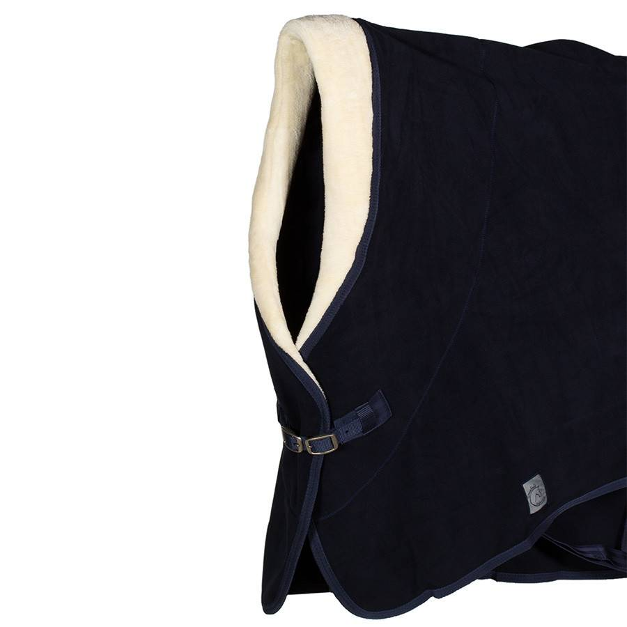 Greenfield Selection Couverture polaire col teddy – marine