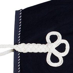 Couvre-reins polaire - bleu marine/bleu marine-mix (blanc)