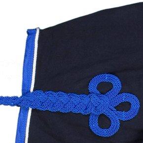 Nierdeken fleece - blauw/koningsblauw-wit