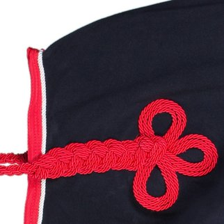 Greenfield Selection Couvre-reins polaire - bleu marine/rouge-blanc