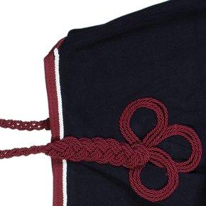 Riding sheet fleece - navy/burgundy-white