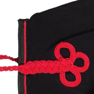 Greenfield Selection Couvre-reins polaire - noir/noir-rouge