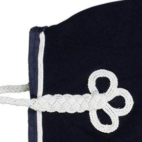 Nierdeken fleece - blauw/blauw-wit/zilvergrijs