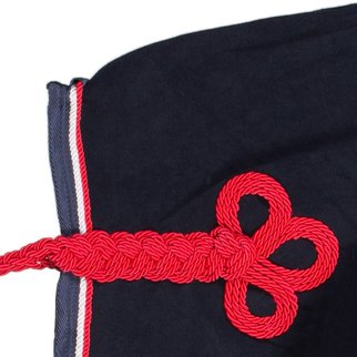 Greenfield Selection Couvre-reins polaire - bleu marine/bleu marine-blanc/rouge