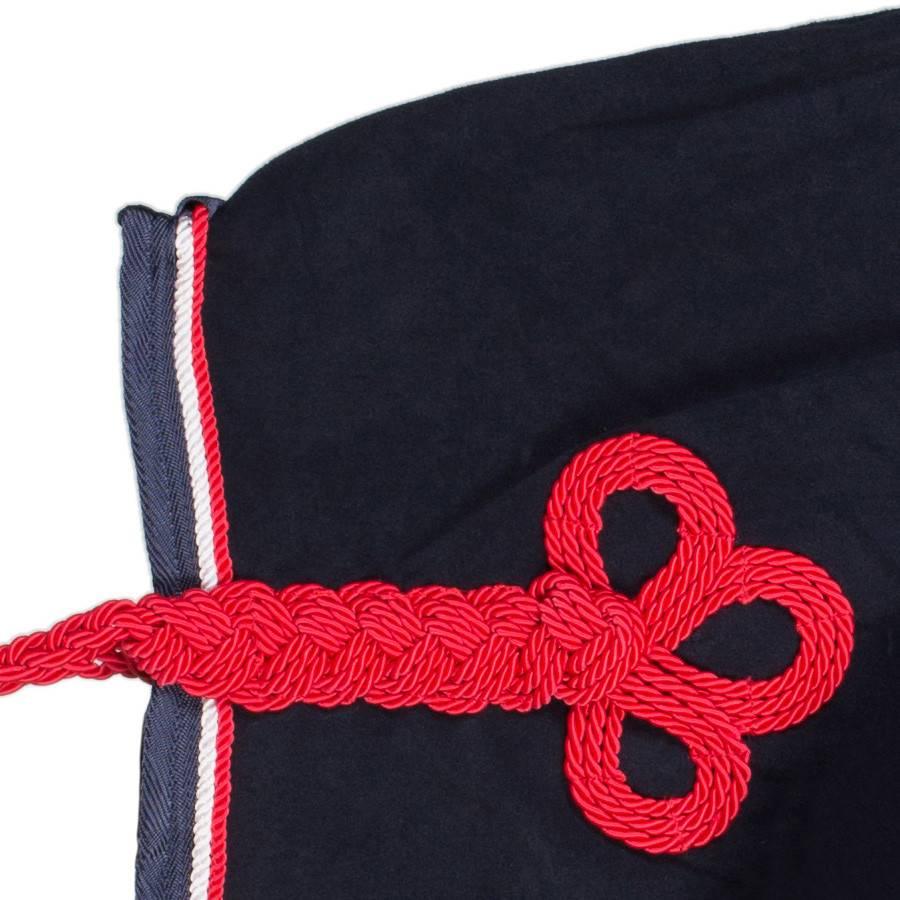 Greenfield Selection Nierdeken fleece - blauw/blauw-wit/rood