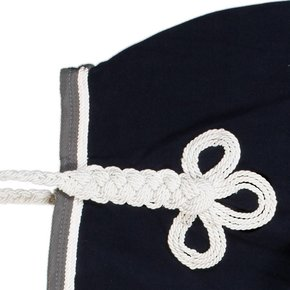 Riding sheet fleece - navy/grey-white/white