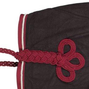 Riding sheet fleece - grey/burgundy-silvergrey/burgundy