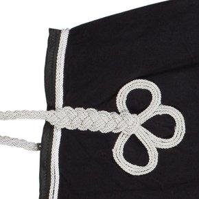Riding sheet fleece - black/black-white/silvergrey