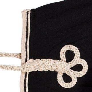 Greenfield Selection Riding sheet fleece - black/beige-black/beige