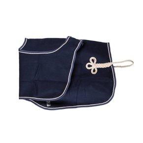 Couvre-reins laine - bleu marine/bleu marine-beige