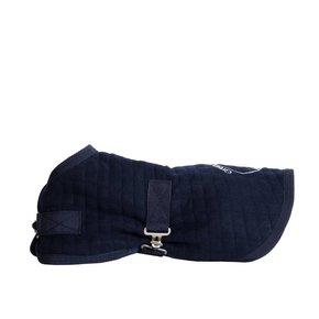 Manteau pour chien thermo - bleu marine/blanc