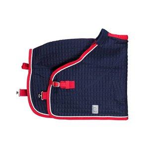 Thermo-deken pony - blauw/rood-wit