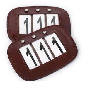 Nummerplaatje met steentjes
