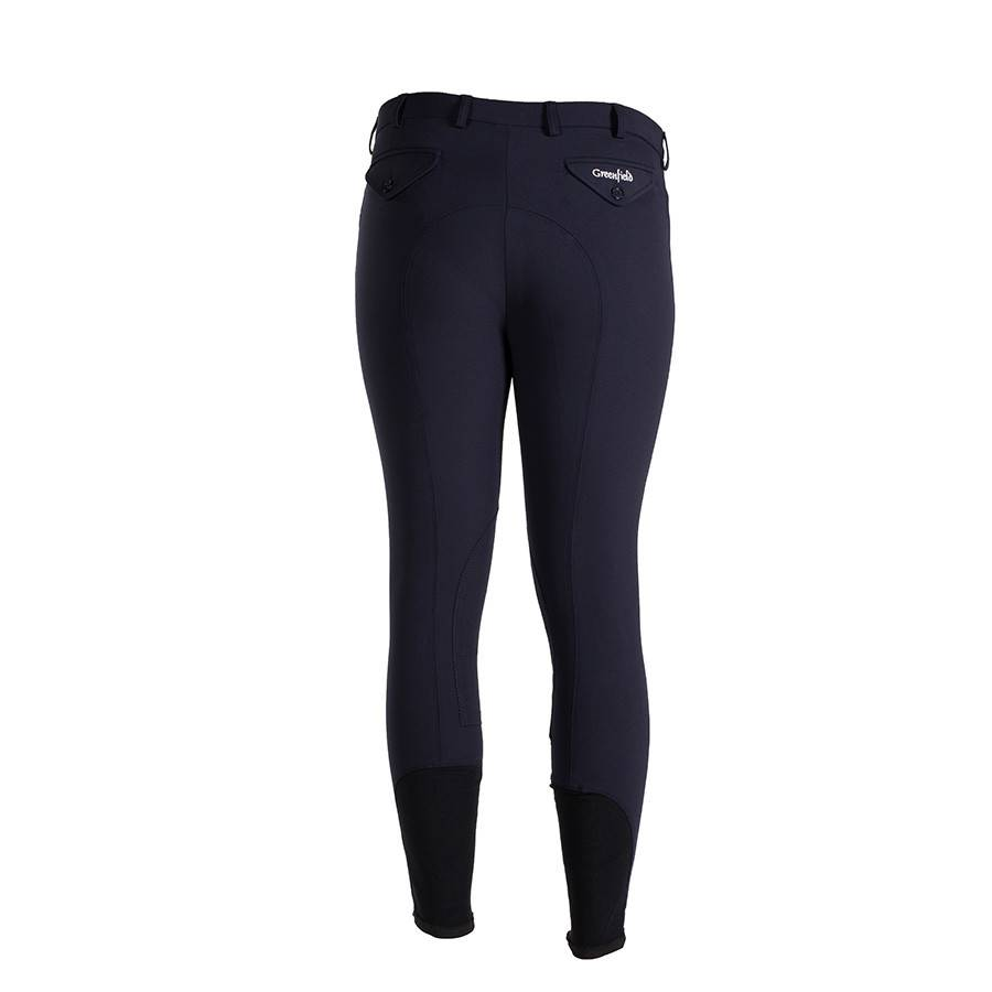 Greenfield Selection Pantalon d'équitation homme - bleu marine