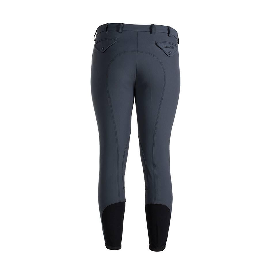 Greenfield Selection Pantalon d'équitation homme - gris