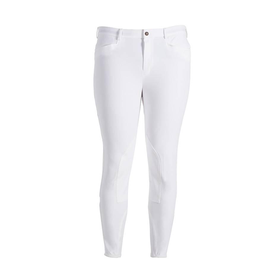 Greenfield Selection Pantalon d'équitation homme - blanc