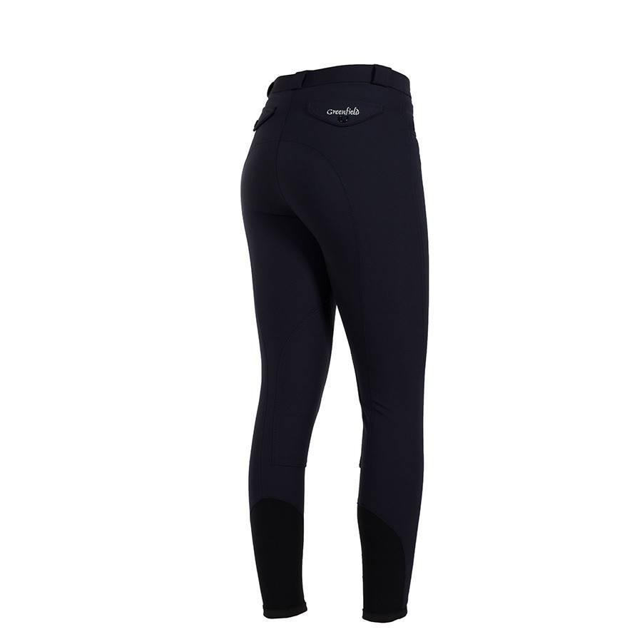 Greenfield Selection Pantalon d'équitation femme - bleu marine