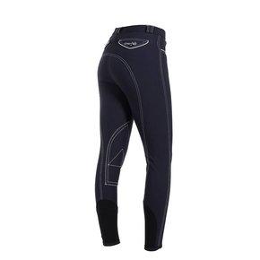 Pantalon d'équitation femme - bleu marine/blanc