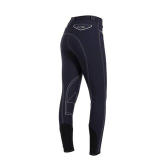 Greenfield Selection Pantalon d'équitation femme - bleu marine/blanc