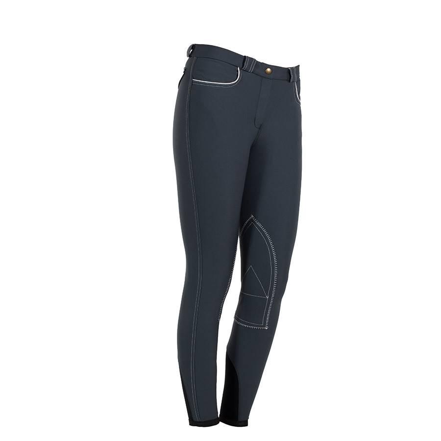 Greenfield Selection Pantalon d'équitation femme - gris/blanc