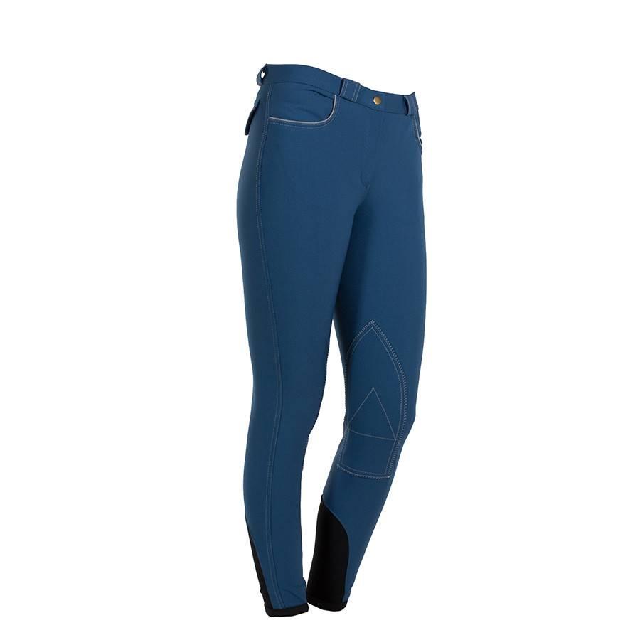 Greenfield Selection Pantalon d'équitation femme - bleu clair