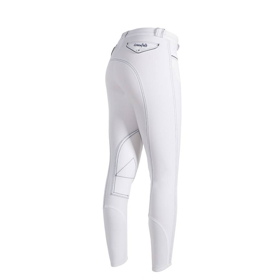 Pantalon d'équitation femme - blanc/bleu