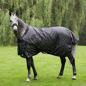 Turnout rug 400 gram - Black/grey