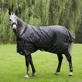 Greenfield Selection Turnout rug 400 gram - Black/grey